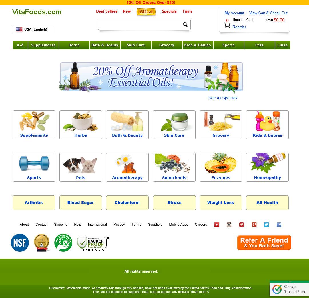 VitaFoodsWebsite